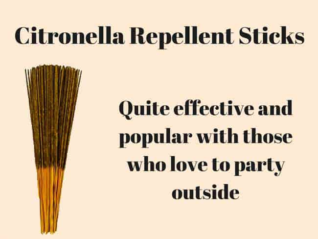 citronella repellent sticks: photo
